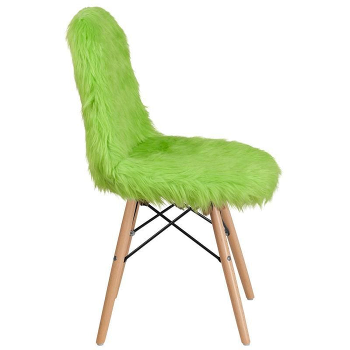 Shaggy Dog Fluorescent Green Accent Chair - Chiavari Chairs