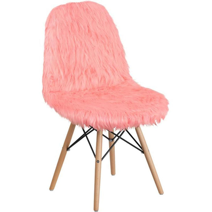 Shaggy Dog Hermosa Pink Accent Chair - Chiavari Chairs