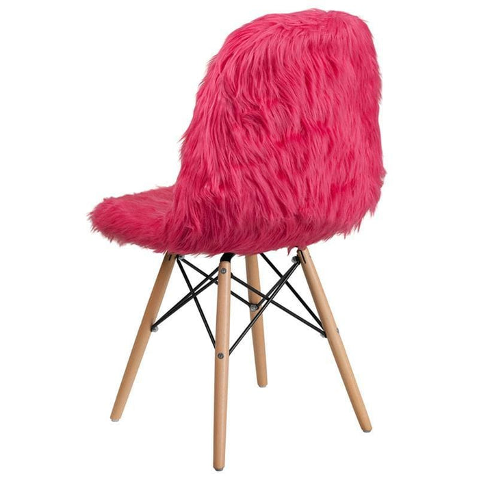 Shaggy Dog Hot Pink Accent Chair - Chiavari Chairs