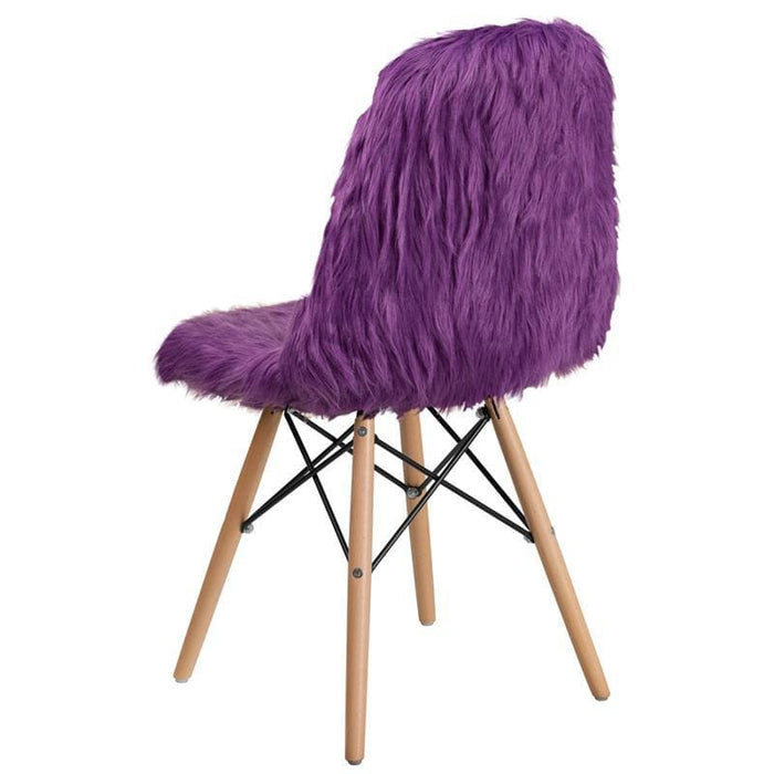 Shaggy Dog Purple Accent Chair - Chiavari Chairs