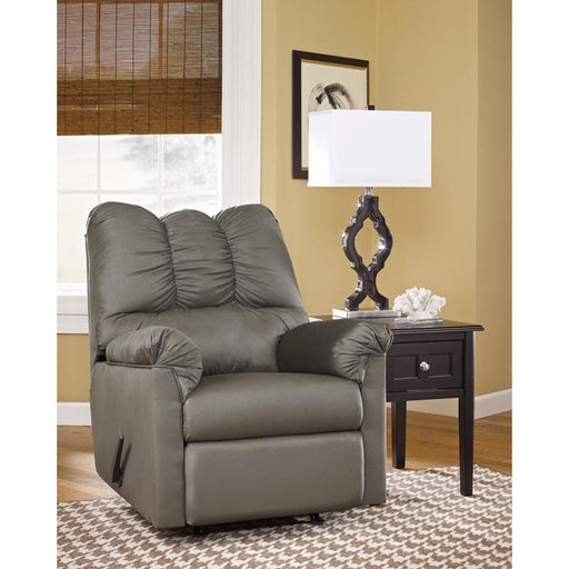 Signature Design By Ashley Darcy Rocker Recliner In Cobblestone Microfiber - Recliners