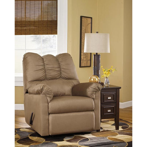 Signature Design By Ashley Darcy Rocker Recliner In Mocha Microfiber - Recliners