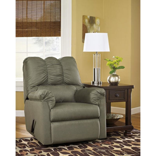 Signature Design By Ashley Darcy Rocker Recliner In Sage Microfiber - Recliners