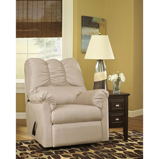 Signature Design By Ashley Darcy Rocker Recliner In Stone Microfiber - Recliners