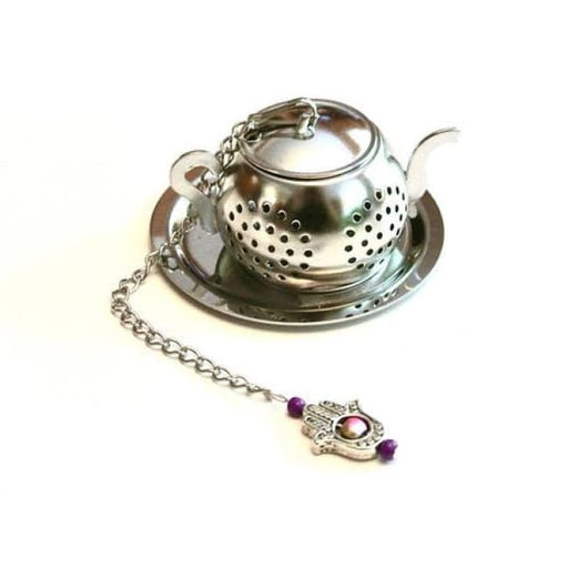 Tea Infuser With Hamsa Hand Charm Yoga - Home & Garden