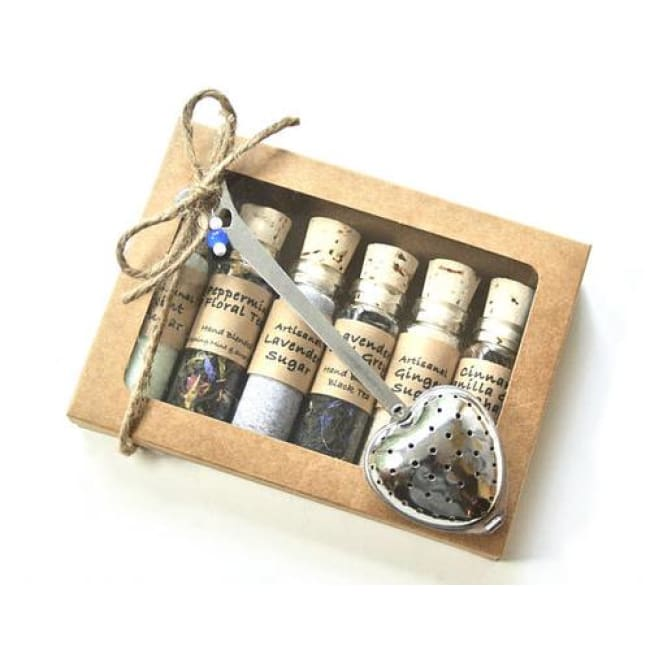 Tea & Sugar Sampler Gift Set 6 Mini Bottles - Home & Garden