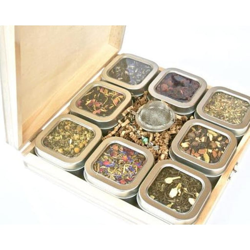Tea Tin Sampler Gift Set 8 Tins Of Loose Leaf Tea - Home & Garden