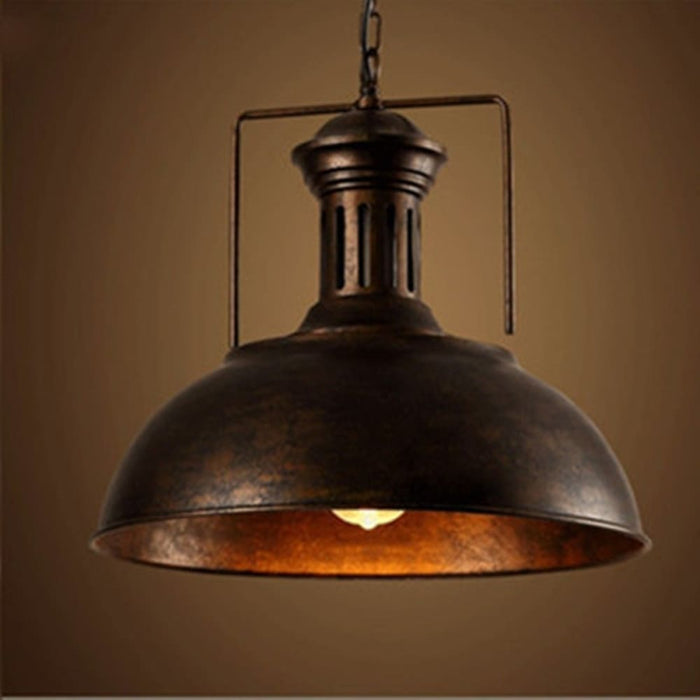 Vintage Retro Industrial Ceiling Light Lamp Shade Fixture Lighting Cafe Home Decor (Color: Black Rust) - Lighting