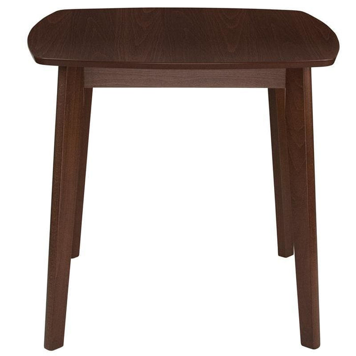 Whitman 31.5 Square Walnut Finish Wood Dining Table With Clean Lines And Braced Legs - Dinette Tables