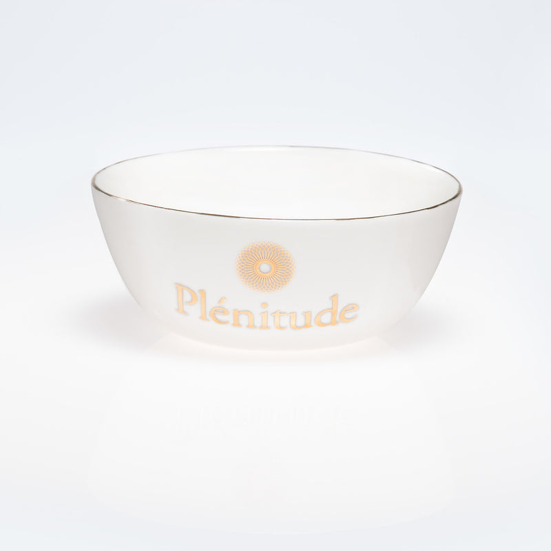 HANDMADE PORCELAIN BOWL, PLATED WITH 24K GOLD