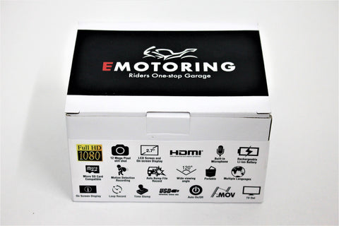 E Motoring Motorcycle Dash & Rear Camera