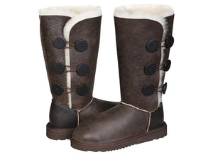 NAPPA BUTTON TALL boots. Made in Australia. FREE Worldwide Shipping.