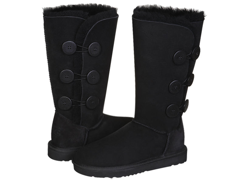 CLASSIC BUTTON TALL boots. Made in Australia. FREE Worldwide Shipping.