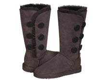 Load image into Gallery viewer, CLASSIC BUTTON TALL boots. Made in Australia. FREE Worldwide Shipping.