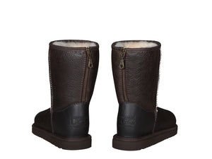 NAPPA SHORT ZIPPER boots. Made in Australia. FREE Worldwide Shipping. Made to order. NO Exchange. NO Return.