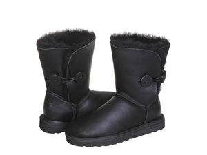 NAPPA BUTTON SHORT boots. Made in Australia. FREE Worldwide Shipping.