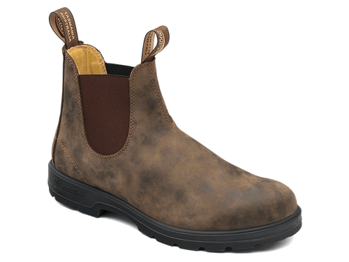BLUNDSTONE 585 Leather Dress Boots Rustic Brown. FREE Worldwide Shipping.