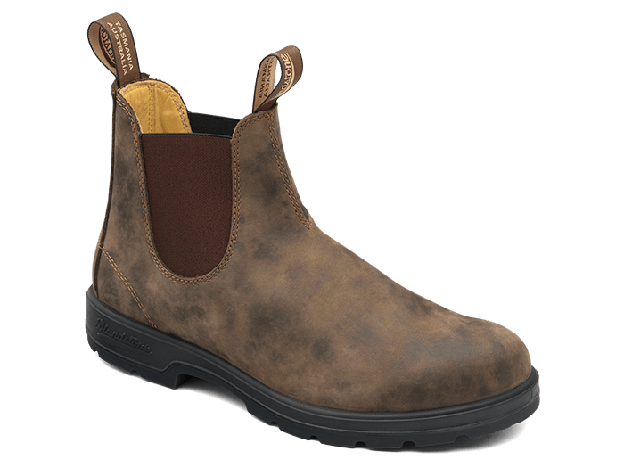 BLUNDSTONE 585 Leather Boots Rustic Brown. FREE Worldwide Shipping.