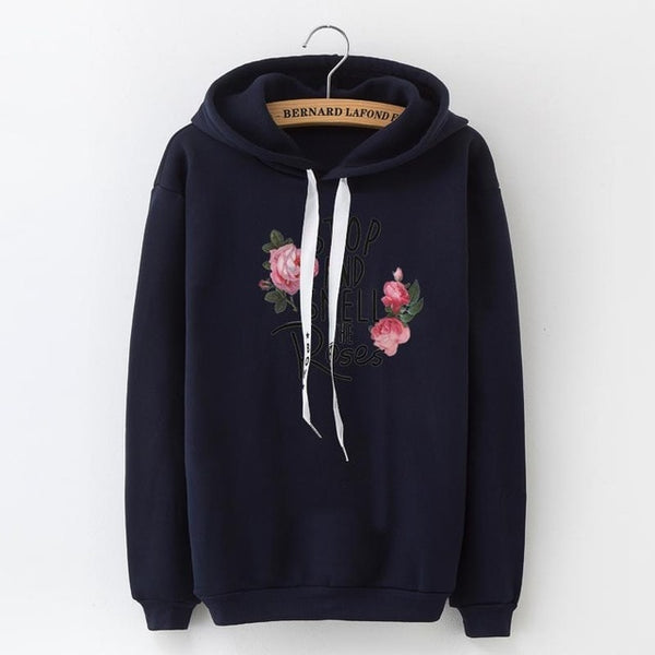 Le Hoody STOP AND SMELL ROSES