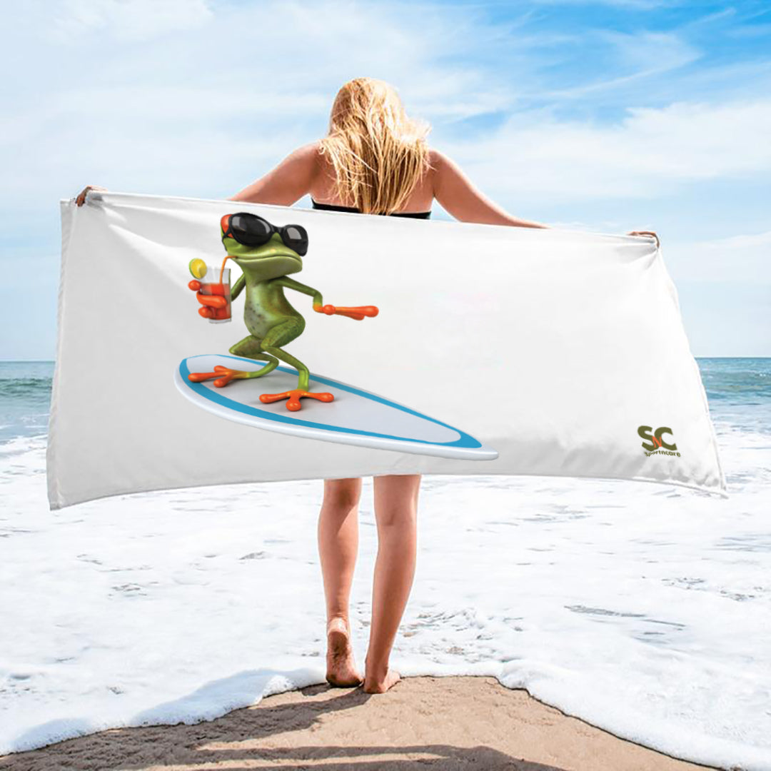 SURFER FROG TOWEL