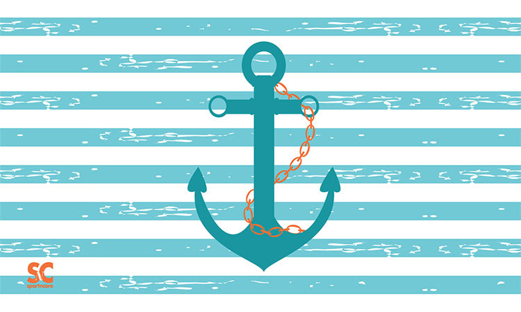 "ANCHOR TOWEL  BEACH SIZE ( 32 X 60 "" )."
