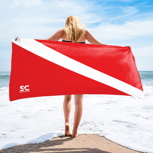 SCUBA DIVE FLAG  TOWEL