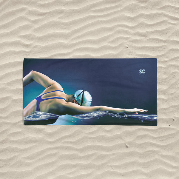 LADY SWIMMER TOWEL