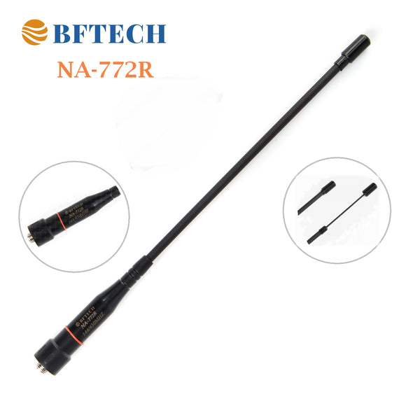 BFTECH NA-772 R Adjustable Max 14-Inch Dual Band Antenna (144/430Mhz) SMA Female High gain Handheld Antenna