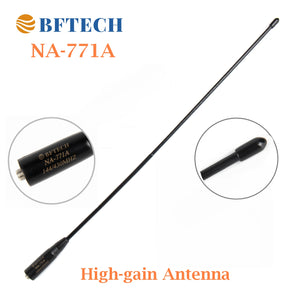 BFTECH NA-771 A 15.6-Inch Dual Band Antenna (144/430Mhz) SMA Female High gain Handheld Antenna