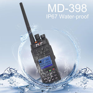 TYT MD-398 10 Watt DMR Digital Radio IP67 Waterproof Up to 1000 Channels with 2 Antenna (High Gain Antenna Included)-IC Certification ID: 10337A-MD380V