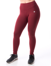 Load image into Gallery viewer, Aria, Burgundy Scrunch Butt Leggings