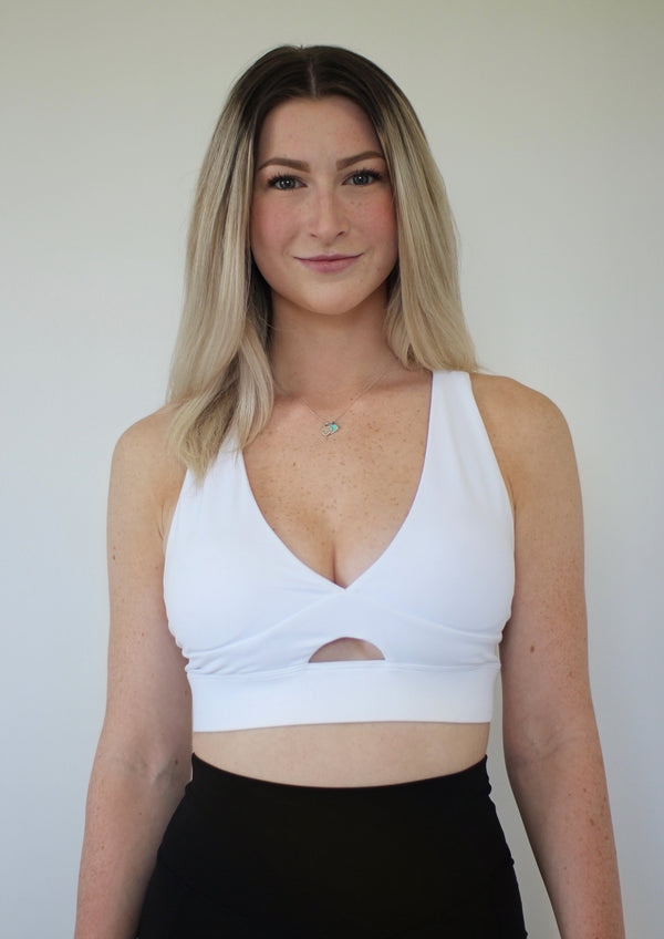Ella Sports Bra- White