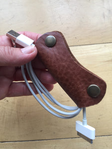 High quality Leather Cable tidy organiser  - Made in England