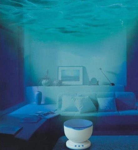 LED Night Light Ocean Waves Projection Lamp with Speaker