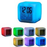 Aurora LED Glow 7 colors alarm Clock