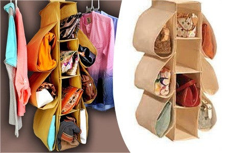 Hanging bag and garment organizer