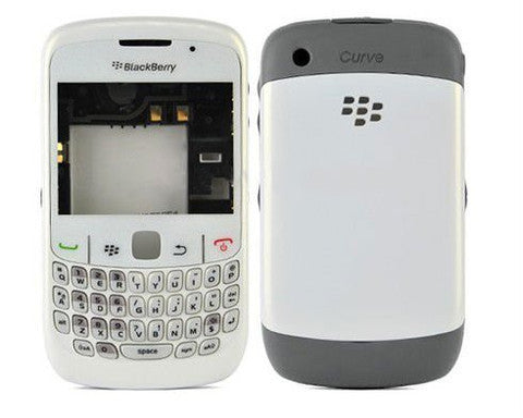 Replacement shell for use with Blackberry 8520 and 8530 housing faceplate cover skin black or white + tools