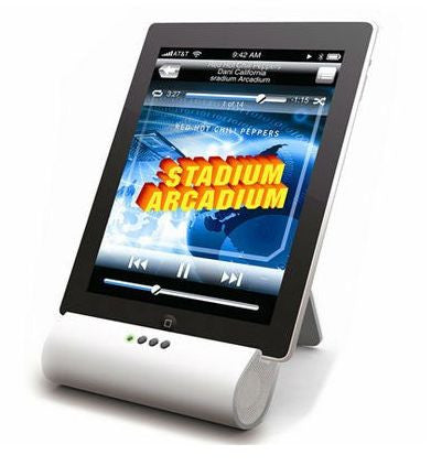 All in one Audio and Speaker Foldable Stand for iPad