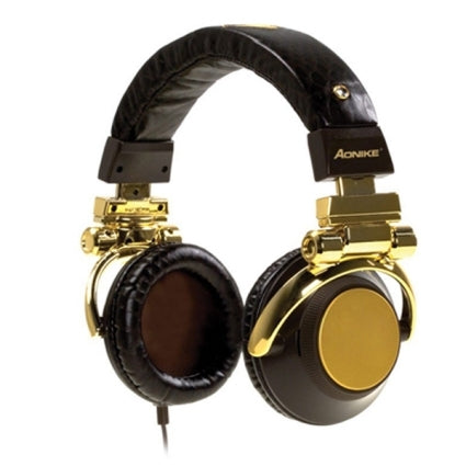 High sound Black / Gold MP3 Headphone Headset