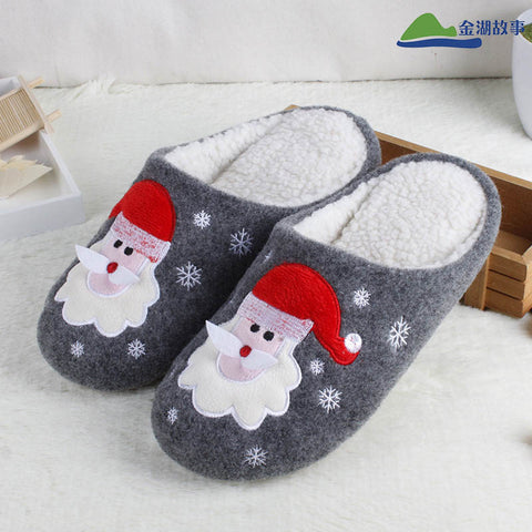 Santa Claus Home Room Warm Slippers