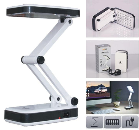 24-LED Foldable Rechargeable Table Desk Bedside Reading Lamp