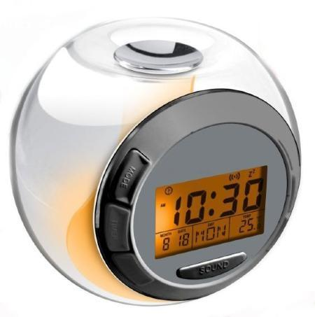 Luminous LED Glow Alarm Clock with natural Sounds