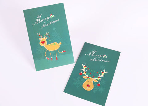 Festive Cards Set of 10 Cards