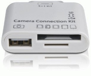 5 in 1 Camera Connection Kit for Apple Ipad SD Card Reader + 4GB SD Transcend CARD