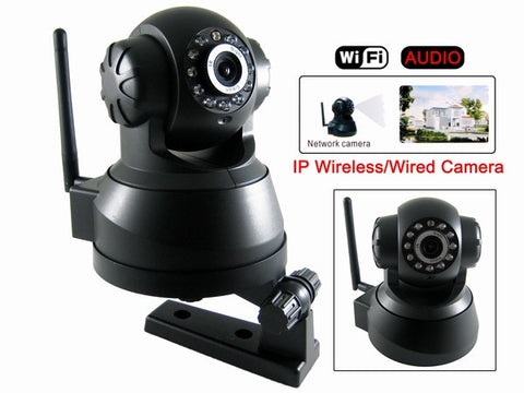2 x Wireless IP Camera Wifi Night-Vision and 2 x 4 GB SD Card memory and Reader