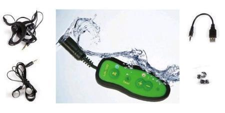 Waterproof 4GB MP3 player AquaCube