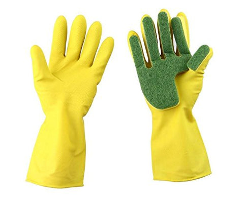 Durable Kitchen Cleaning Scrubbing Sponge Gloves