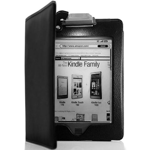 Luxury Leather Stand Case Cover for Amazon Kindle Touch WiFi 3G with LED light