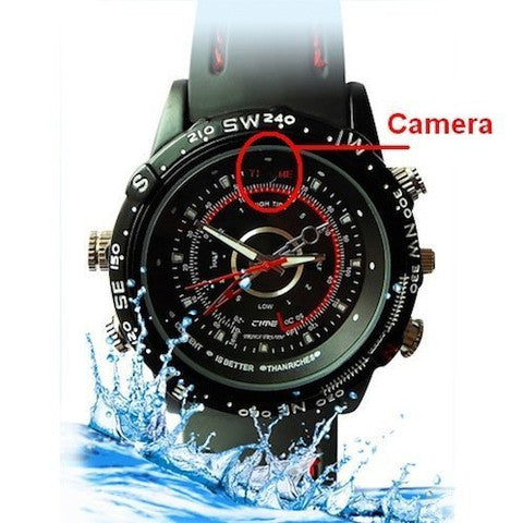 Secret Waterproof Spy Watch with Hidden Camera and 4GB TF Card