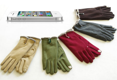 Fashionable Thickened Lining Cotton Touch screen warm Gloves for Winter